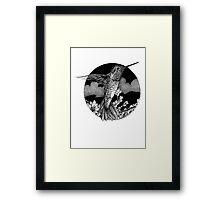 Hummingbird Ink Framed Print