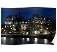 France - Paris 75004 - By night Poster