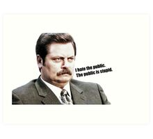 Parks and Rec Ron Swanson on The Public Art Print