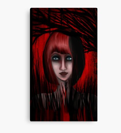 Into The Red Forest Canvas Print