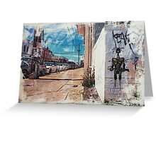 Soldier in the Street Greeting Card