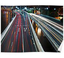 Freeway Bustle Poster