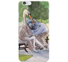 Park Life's For The Birds - Pigeon and Swan iPhone Case/Skin