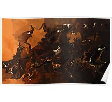 Music Of The Night- Abstract  Art & Products Design  Poster