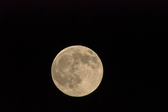 December Moon Over Missoula by Bryan D. Spellman