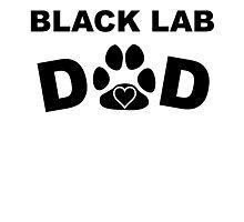 Black Lab Dad Photographic Print