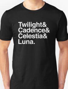 Equestrian Princess Helvetica List T-Shirt