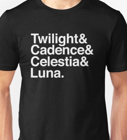 Equestrian Princess Helvetica List Unisex T-Shirt