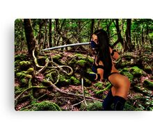 Girl Warrior Fine Art Print Canvas Print
