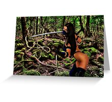 Girl Warrior Fine Art Print Greeting Card