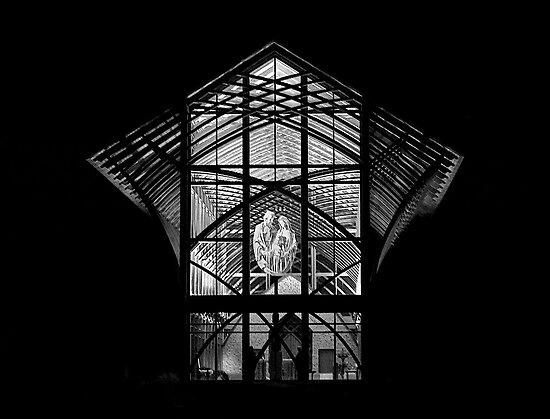 Holy Family Shrine - Night by Tim Wright