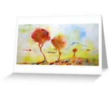 Blossoming Trees Greeting Card
