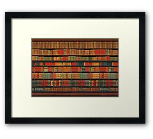 Vintage Library at Chateau Chantilly, Paris FRANCE Framed Print