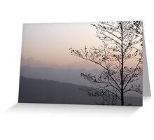 Sunrise in Nepal Greeting Card