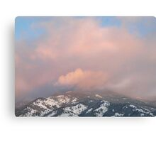 Mountain Crown - Sunset Reflected Canvas Print