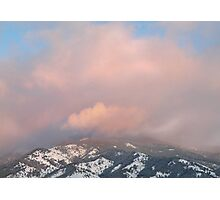 Mountain Crown - Sunset Reflected Photographic Print
