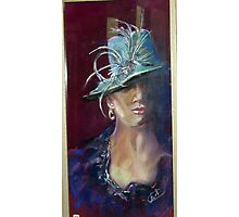 Melbourne Cup Hat www.shirleycharlton.com Photographic Print