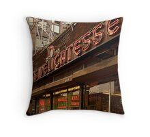 Katz Deli, New York City Throw Pillow