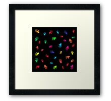 Colorful Hands, abstract Framed Print