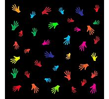 Colorful Hands, abstract Photographic Print