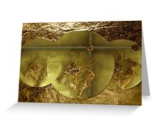 Gold  -  Art & Products Design  Greeting Card