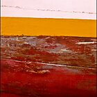 Abstract Boats-  Red -Yellow-White by Albert Sulzer