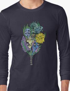 Ghostly Figures and Flowers 5 Long Sleeve T-Shirt