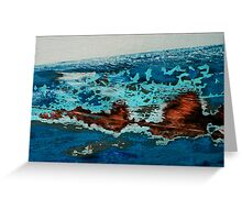 Abstract Boats- 02 'landscape' Greeting Card