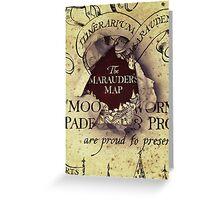 Marauders Map Greeting Card