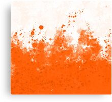 Orange Ink  Canvas Print