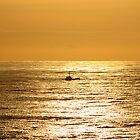 Sunset over Crabbing Boat by Chappy
