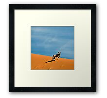 Oryx on the skyline | Namibia Framed Print