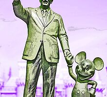 Walt and Mickey iPhone Cases and Skins Purple by kellyblackie