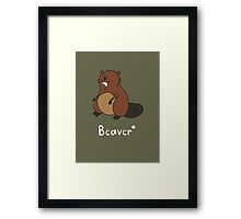 B for Beaver Framed Print