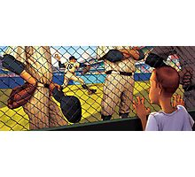 A Boy in the Bullpen Photographic Print