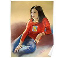 Pastel Portrait of Hannah Poster