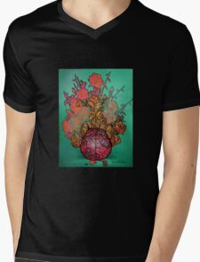 BRAIN FLOWERS Mens V-Neck T-Shirt