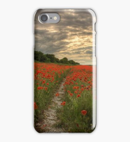 Poppies Sunset - South Downs Sussex iPhone Case/Skin