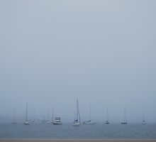 Boats in Fog by Paul Finnegan