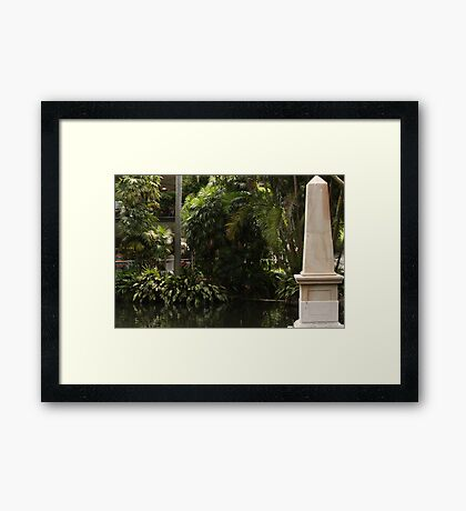 A water moment Framed Print