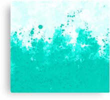 Teal Ink Canvas Print