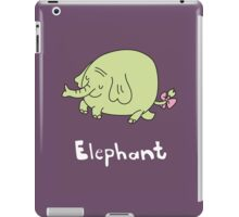 E for Elephant iPad Case/Skin