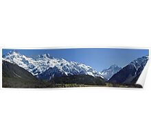 Mt. Cook without clouds!  Poster