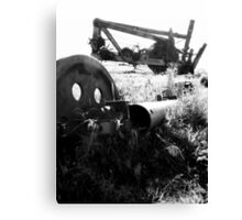 Broken Down - Black and White Industrial Collection - Montana Canvas Print