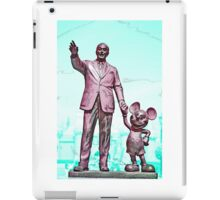 Walt and Mickey iPhone Cases and Skins Aqua iPad Case/Skin