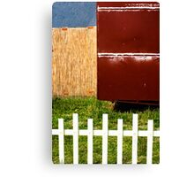 White fence abstract Canvas Print