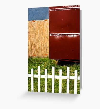 White fence abstract Greeting Card