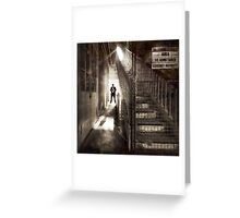 Shadowman stars in - IT CAME FROM UNDER THE STAIRS!!! Greeting Card
