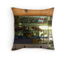 Fish and Chips Shop Throw Pillow