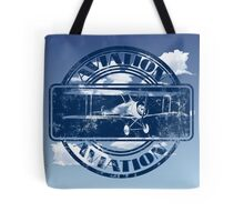 Vintage Aviation Art Tote Bag